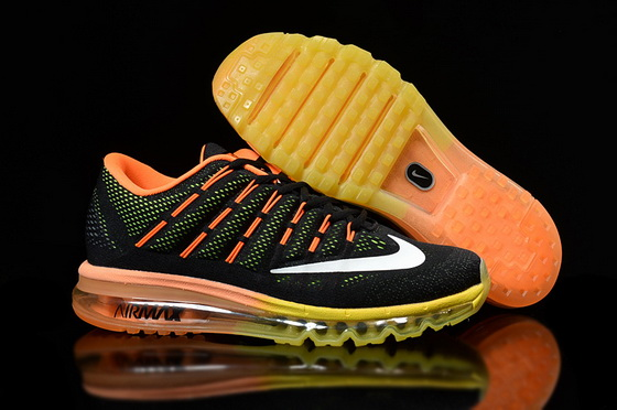 "Air Max 2016 ""Running"" Shoes Black/orange white"
